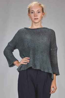 hip length sweater in shaded bouclé knitting of wool, cashmere and polyamide  - 262