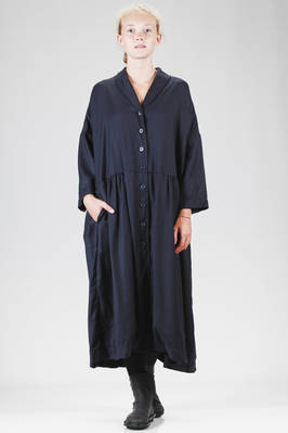 long and wide robe-manteaux in wool and cashmere twill  - 347