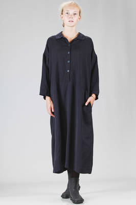 longuette, wide dress in viscose sateen  - 347