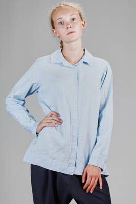 classic man shirt in washed viscose - CASEY CASEY