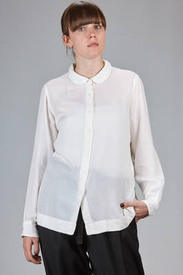 classic man shirt in in very light milk fiber  - 347