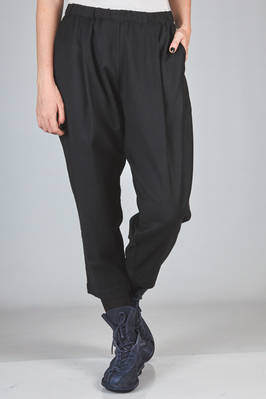 trousers in soft wool and cashmere flannel  - 347