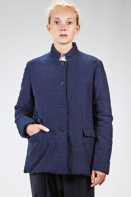 long men jacket in matelassé moleskin cotton, lined in cotton canvas  - 347