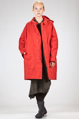knee length overcoat in crisp and crumpled canvas with waxed effect  - 347