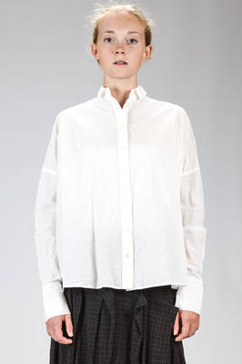 wide shirt in washed and wrinkled cotton poplin  - 161