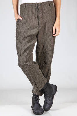 wide trousers in washed and pinstripe male drapery of new wool  - 161