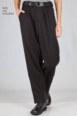 wide trousers in soft knitting of acrylic, cotton, wool and nylon  - 340