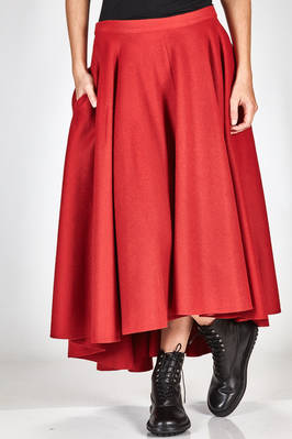 wide and asymmetrical skirt in very soft cloth of nylon and wool, cupro lined  - 340