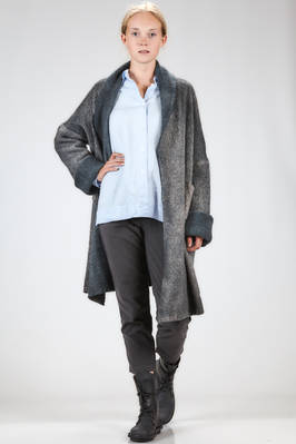 long and wide cardigan in very soft shaded cashmere and polyamide knitting  - 360