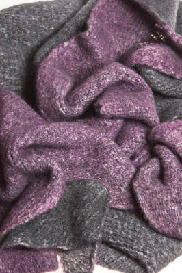 triangular scarf in very soft cashmere stockinette stitch  - 360