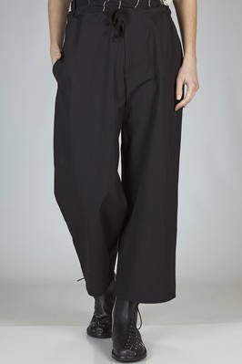 wide trousers in wrinkled cotton canvas  - 97