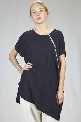 long, wide and asymmetrical t-shirt in cotton jersey with diagonal tye-and-dye pattern  - 97