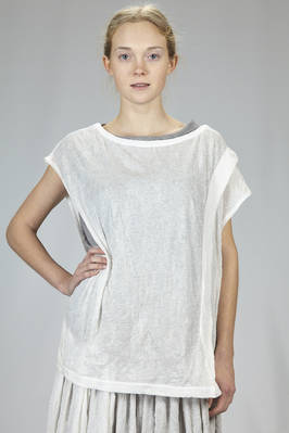 long and wide t-shirt in double and wrinkled polyester and cotton jersey  - 97