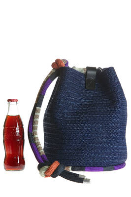 bucket bag in nylon and rayon raffia  - 111