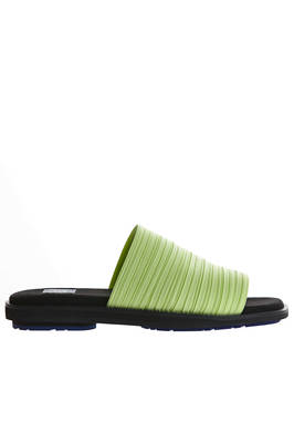 slipper with pleated strap in contrasting color polyester  - 111