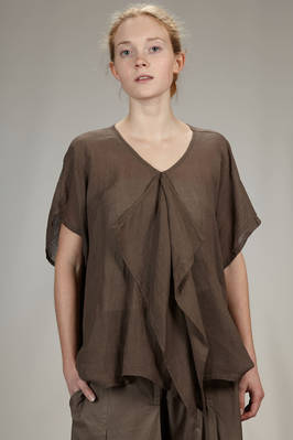 hip length shirt in very light linen canvas  - 327