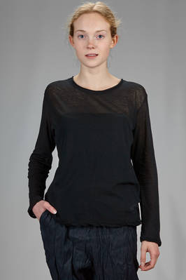 hip length t-shirt in very soft and very light cotton jersey  - 327
