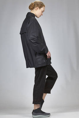 long jacket in water-repellent nylon canvas - ZUCCA