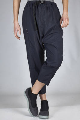 wide and short trousers in wrinkled nylon taffetas - ZUCCA