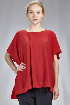 long and wide t-shirt in stockinette stitch of cotton and acetate  - 121