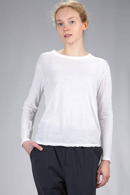 'basic' hip length t-shirt in very light supima Japanese cotton  - 121