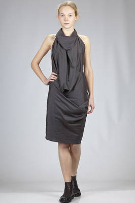 short 'sculpture' dress in light cotton and silk batavia canvas  - 120