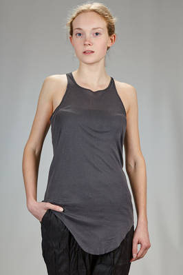 classic 'Rick Owens' tank top in light cotton jersey with 'mini-rib'  - 120