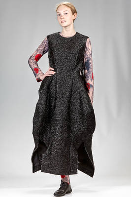 'sculpture' dress from the fashion show in frayed polyester lurex, cupro lined  - 48