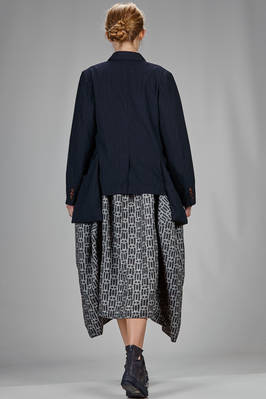 hip length jacket with very light washed polyester canvas with tone on tone stripes - COMME des GARÇONS - COMME des GARÇONS