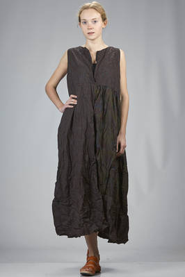 long and wide dress in a patchwork of over dyed cotton liberty  - 195