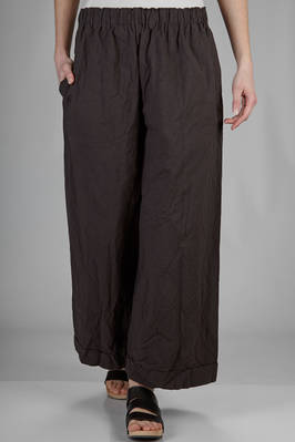 wide trousers in washed and wrinkled cotton canvas  - 195