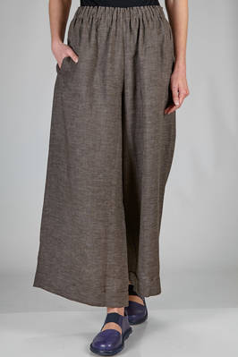 wide trousers in light mélange linen canvas  - 195