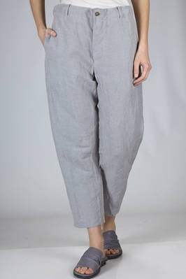wide trousers in washed linen and lyocell ramié  - 161