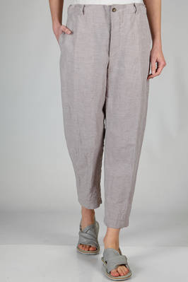 wide trousers on washed and flamed linen and lyocell canvas  - 161
