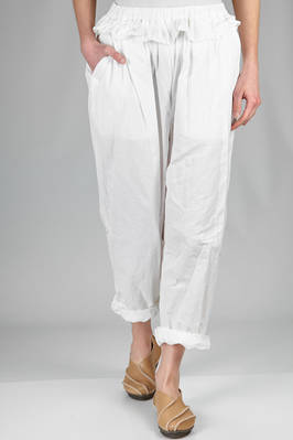 soft trousers in polyester paper that wrinkles when touched  - 47