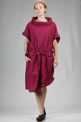 knee length dress in polyester paper that wrinkles when touched  - 47