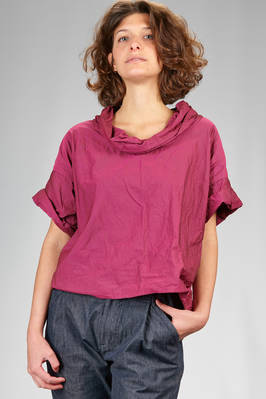 hip length top in polyester paper that wrinkles when touched  - 47