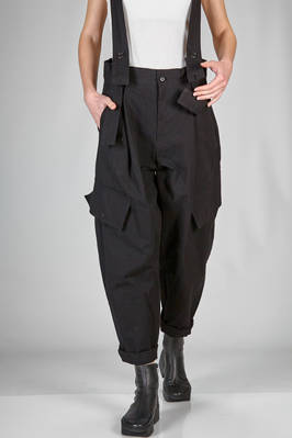 wide trousers in crisp cotton canvas  - 340