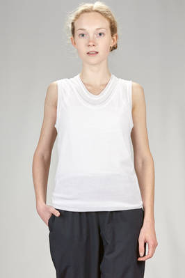 doubled tanktop in stretch cotton gauze  - 340
