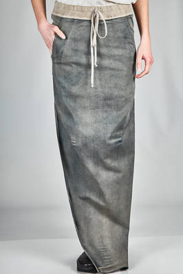 long pencil skirt in light cotton and stretch lycra denim  - 120