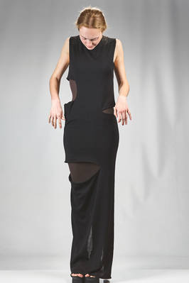 long and wide dress in silk stockinette stitch - RICK OWENS