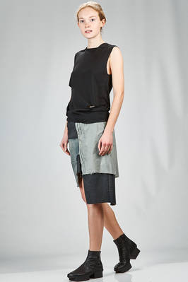 hip length top in silk stockinette stitch - RICK OWENS