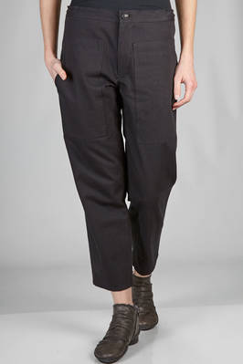 slim fit trousers in soft cotton twill  - 97