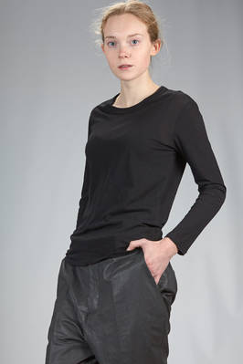'basic' hip length t-shirt in very light supima Japanese cotton - ZUCCA