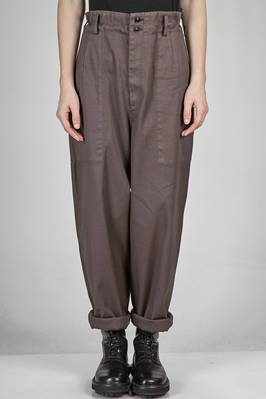wide trousers in cotton canvas  - 97