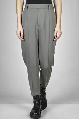 'classic Rick Owens' trousers in virgin wool faille, lined in cupro  - 120