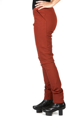 slim fitted leggings in stretch gros-grain of cotton, viscose, elastane and polyamide - RICK OWENS