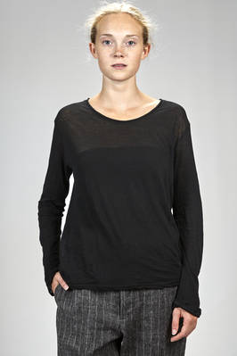 basic hip length t-shirt in very soft and light cotton jersey  - 327