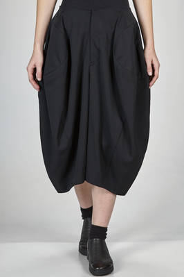 wide calf length divided skirt in wool gabardine lined with a polyester canvas  - 48