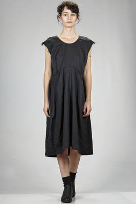 under the knee dress in washed techno polyester fabric with tone on tone leopard print  - 48